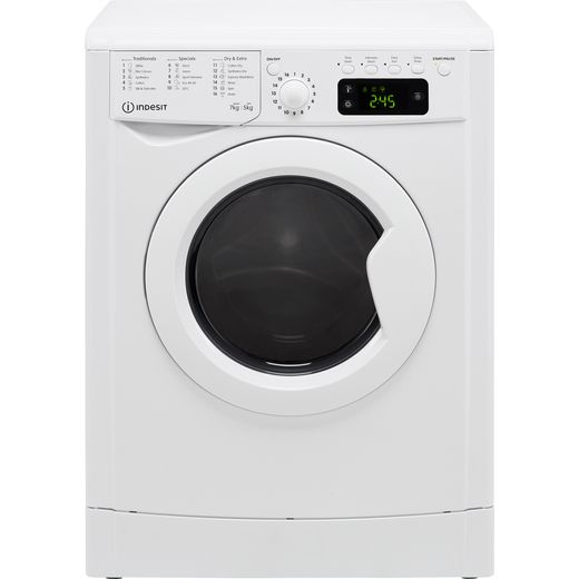 Indesit IWDD75125UKN 7Kg / 5Kg Washer Dryer with 1200 rpm - White - F Rated
