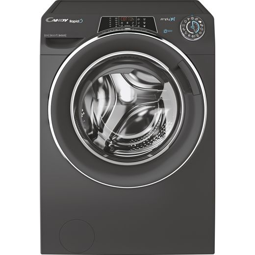 Candy Rapido RO16106DWMCRE Wifi Connected 10Kg Washing Machine with 1600 rpm - Graphite - A+++ Rated