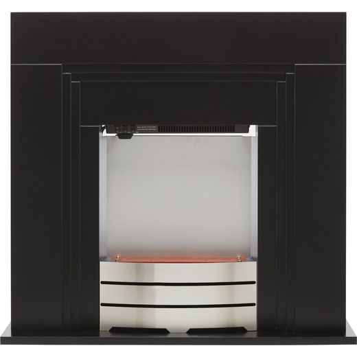Warmlite WL45013 Pebble Bed Suite And Surround Fireplace - Black