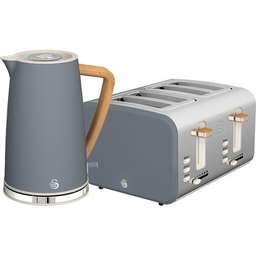 Swan Nordic STP2091GRYN Kettle And Toaster Set - Grey
