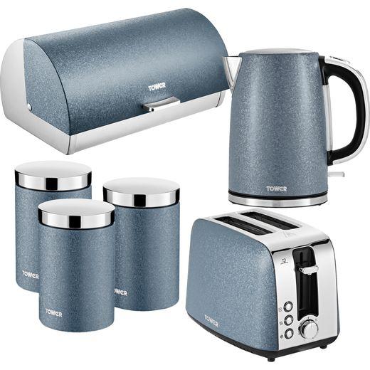 Tower Ice Diamond AOBUNDLE029 Kettle And Toaster Set - Blue