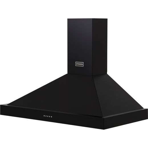 Stoves S900 STER CHIM 90 cm Chimney Cooker Hood - Black - A Rated