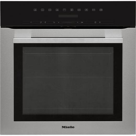 Miele ContourLine H7164BP Wifi Connected Built In Electric Single Oven with added Steam Function - Clean Steel - A+ Rated