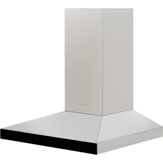 Elica CLAIRE-60 60 cm Chimney Cooker Hood - Stainless Steel / Black Glass - B Rated