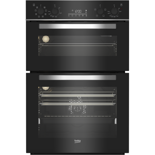 Beko BBDM243BOC Built In Electric Double Oven - Black / Glass - A/A Rated