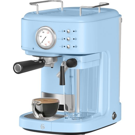 Swan Retro SK22150BLN Espresso Coffee Machine - Blue