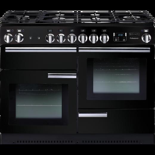 Rangemaster Professional Plus PROP110DFFGB/C 110cm Dual Fuel Range Cooker - Black / Chrome - A/A Rated