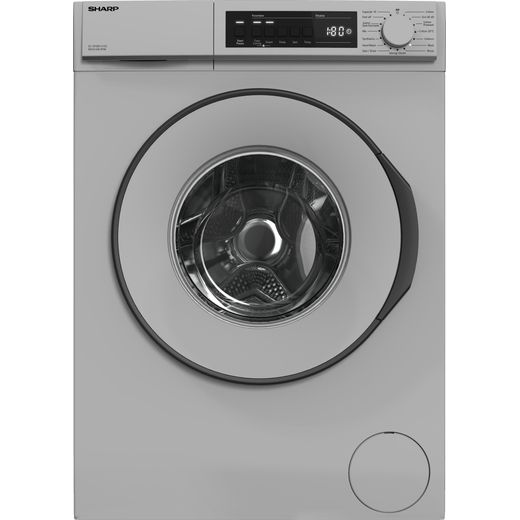 Sharp ES-NFB8141SD-EN 8Kg Washing Machine with 1400 rpm - Silver - D Rated