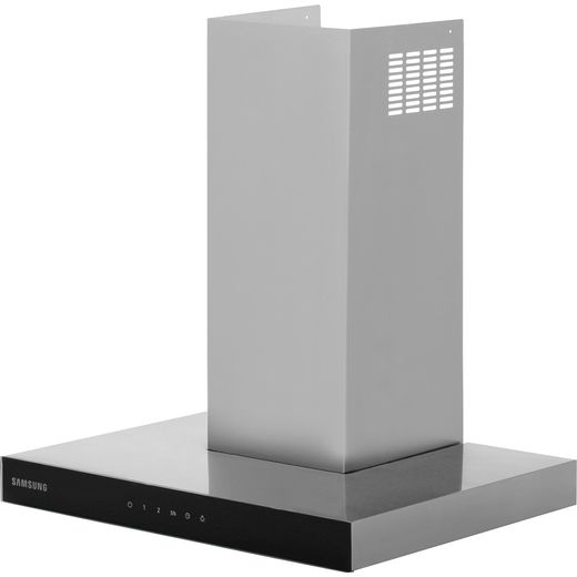 Samsung Prezio NK24M5070BS 60 cm Chimney Cooker Hood - Stainless Steel / Black Glass - B Rated