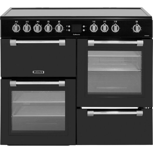 Leisure Cookmaster CK100C210K 100cm Electric Range Cooker with Ceramic Hob - Black - A/A Rated
