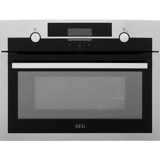 AEG KME561000M Built In Compact Electric Single Oven with Microwave Function - Stainless Steel