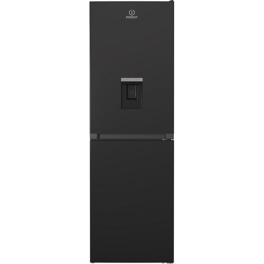 Indesit INFC850TI1KAQUA1 50/50 Frost Free Fridge Freezer - Black - F Rated