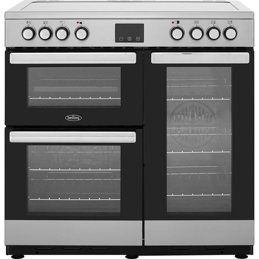 Belling Cookcentre90E 90cm Electric Range Cooker with Ceramic Hob - Stainless Steel - A/A Rated