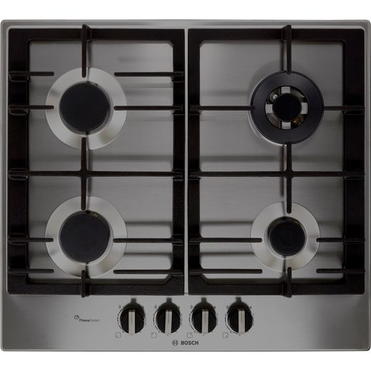 Bosch Serie 6 PCH6A5B90 Built In Gas Hob - Stainless Steel