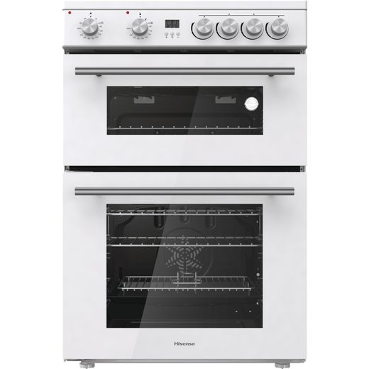 Hisense HDE3211BWUK Electric Cooker with Ceramic Hob - White - A+/A Rated