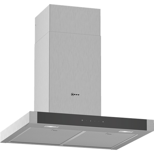 NEFF N50 D64BHM1N0B 60 cm Chimney Cooker Hood - Stainless Steel - B Rated