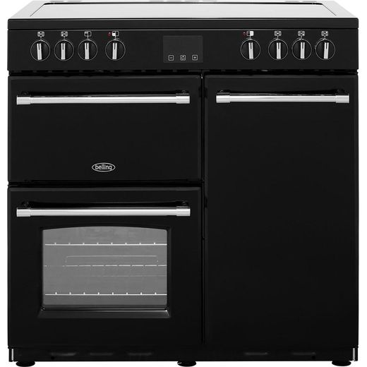 Belling Farmhouse90E 90cm Electric Range Cooker with Ceramic Hob - Black - A/A Rated