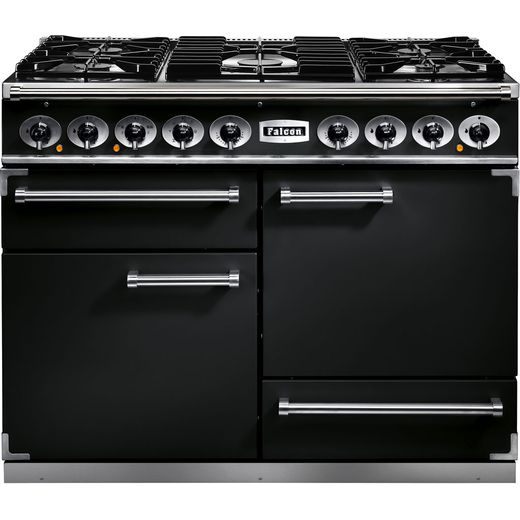 Falcon 1092 DELUXE F1092DXDFBL/CM 110cm Dual Fuel Range Cooker - Black - A/A Rated
