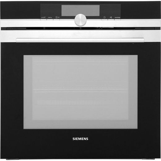 Siemens IQ-700 HM678G4S6B Built In Electric Single Oven with Microwave Function - Stainless Steel