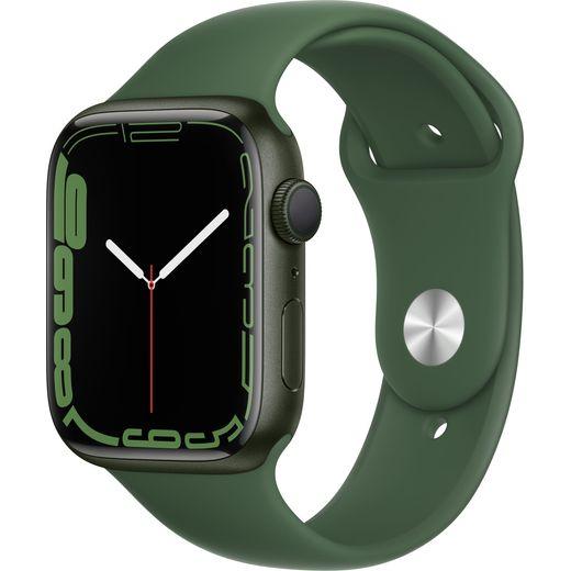 Apple Watch Series 7, 45mm, GPS [2021] - Green Aluminium Case with Clover Sport Band