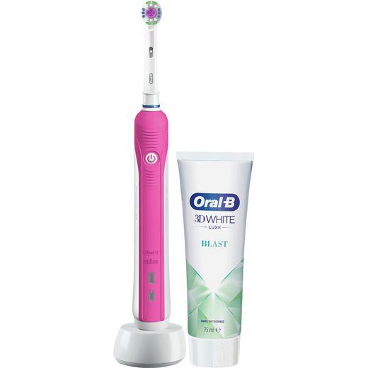 Oral B Pro 650 3DWhite Electric Toothbrush - Pink