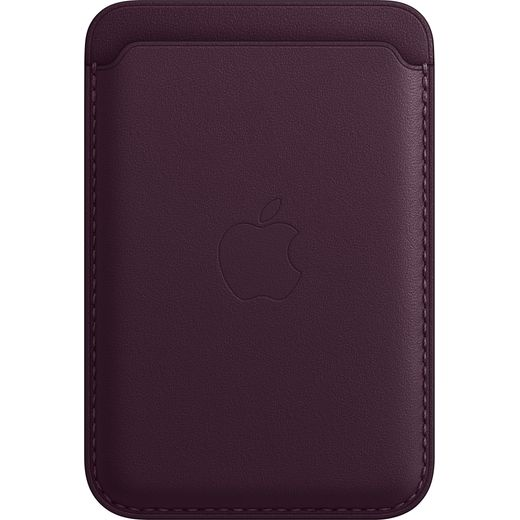 Apple Leather Wallet with Magsafe for iPhone 13 - Dark Cherry