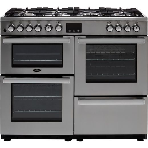 Belling Cookcentre100DFT Prof 100cm Dual Fuel Range Cooker - Stainless Steel - A/A Rated