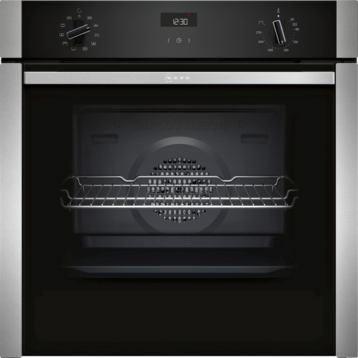 NEFF N50 Slide&Hide® B3ACE4HN0B Built In Electric Single Oven - Stainless Steel - A Rated