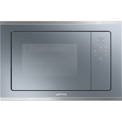 Smeg Cucina FMI420S2 Built In Combination microwave - Silver Glass