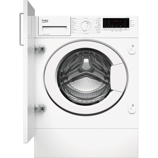 Beko WTIK84111F Integrated 8Kg Washing Machine with 1400 rpm - White - C Rated