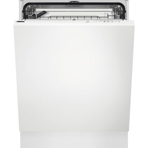 Zanussi ZDLN1512 Fully Integrated Standard Dishwasher - Black Control Panel with Sliding Door Fixing Kit - F Rated