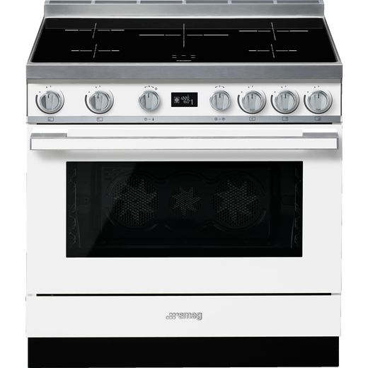 Smeg Portofino CPF9iPWH 90cm Electric Range Cooker with Induction Hob - White - A+ Rated