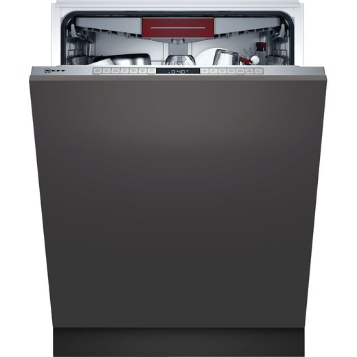 NEFF N50 Extra Height S295HCX26G Wifi Connected Fully Integrated Standard Dishwasher - Stainless Steel Control Panel - D Rated
