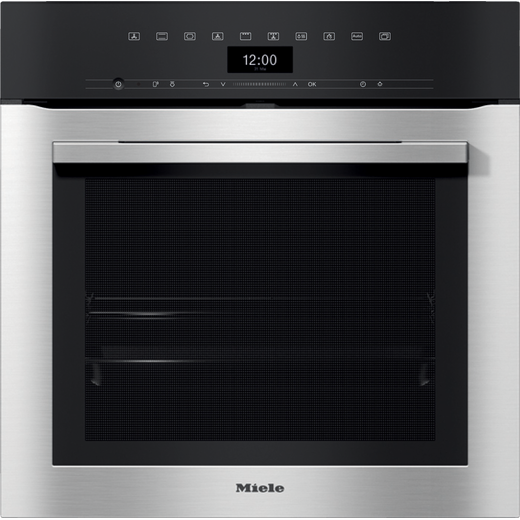 Miele ContourLine H7364BP Wifi Connected Built In Electric Single Oven with added Steam Function - Clean Steel - A+ Rated