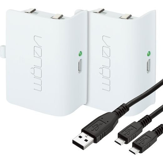 Venom Twin Rechargeable Battery Packs For Xbox One - White