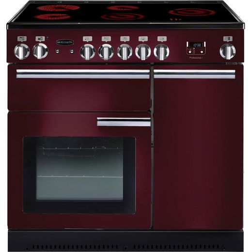 Rangemaster Professional Plus PROP90ECCY/C 90cm Electric Range Cooker with Ceramic Hob - Cranberry - A/A Rated