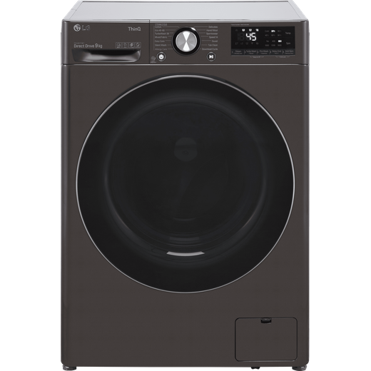 LG V10 F6V1009BTSE Wifi Connected 9Kg Washing Machine with 1600 rpm - Steel Black - A Rated
