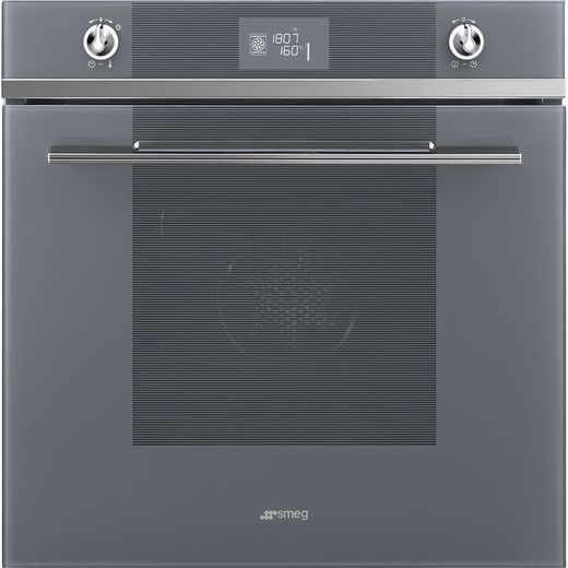 Smeg Linea SFP6102TVS Built In Electric Single Oven - Silver - A+ Rated