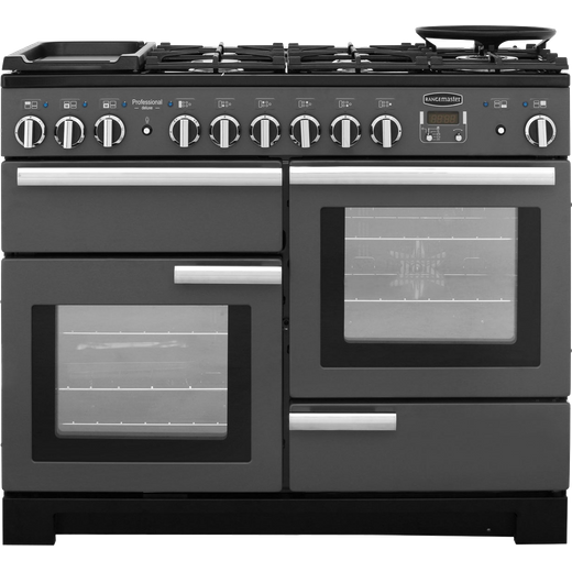 Rangemaster Professional Deluxe PDL110DFFSL/C 110cm Dual Fuel Range Cooker - Slate - A/A Rated