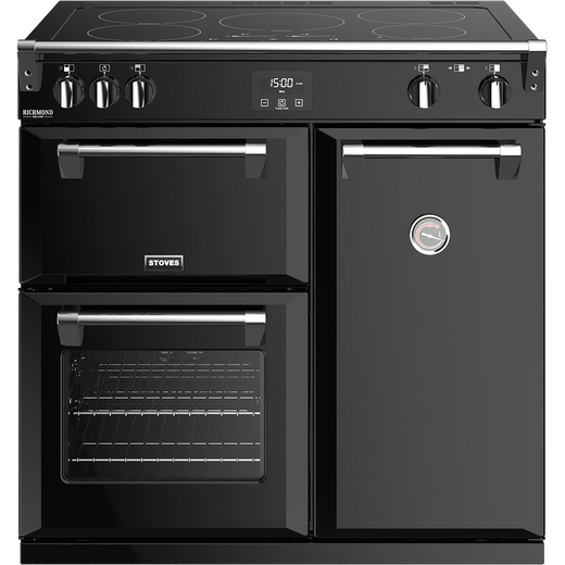 Stoves Richmond Deluxe S900EI 90cm Electric Range Cooker with Induction Hob - Black - A/A/A Rated