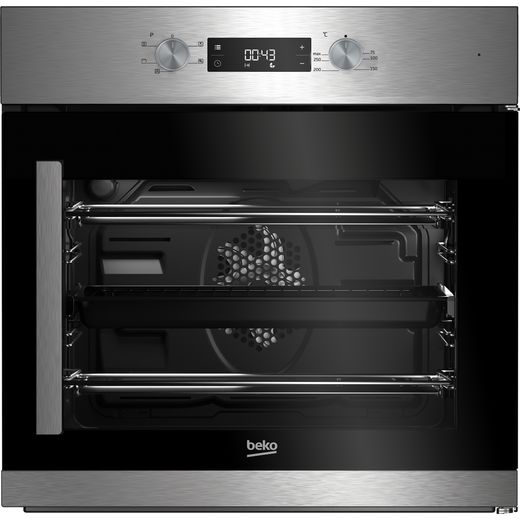 Beko BIF22300XR Built In Electric Single Oven with added Steam Function - Stainless Steel - A Rated