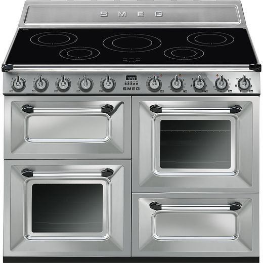 Smeg Victoria TR4110iX-1 110cm Electric Range Cooker with Induction Hob - Stainless Steel - A/A Rated