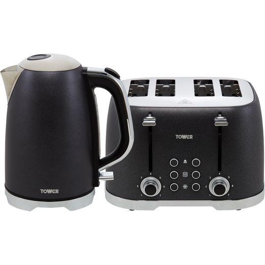 Tower Glitz AOBUNDLE006 Kettle And Toaster Set - Black