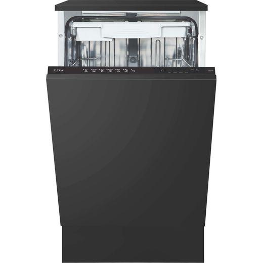 CDA CDI4251 Fully Integrated Slimline Dishwasher - Black Control Panel - E Rated
