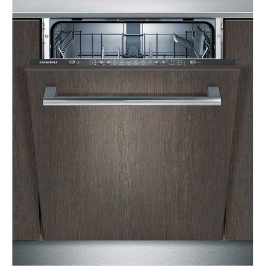 Siemens IQ-300 SN66D000GB Fully Integrated Standard Dishwasher - Black Control Panel with Fixed Door Fixing Kit - F Rated
