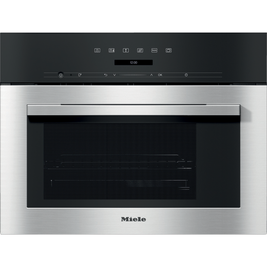 Miele ContourLine DG7140 Built In Compact Steam Oven - Clean Steel