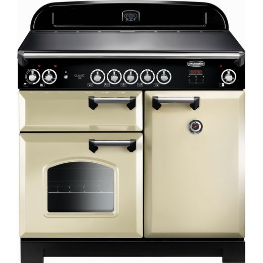 Rangemaster Classic CLA100EICR/C 100cm Electric Range Cooker with Induction Hob - Cream / Chrome - A/A Rated