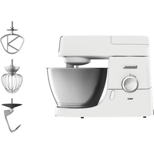Kenwood Chef KVC3100W Stand Mixer with 4.6 Litre Bowl - White