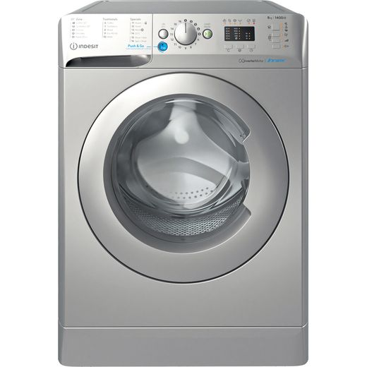 Indesit BWA81485XSUKN 8Kg Washing Machine with 1400 rpm - Silver - C Rated