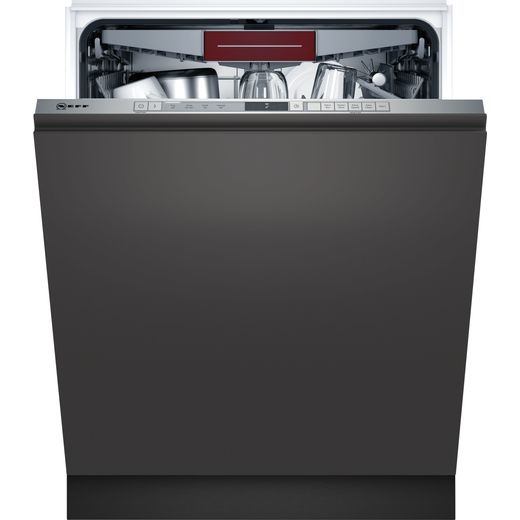 NEFF N30 S353HCX02G Fully Integrated Standard Dishwasher - Stainless Steel Control Panel - D Rated